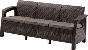 Диван Keter Corfu Love Seat Max (Корфу Лав Сит Макс), коричневый