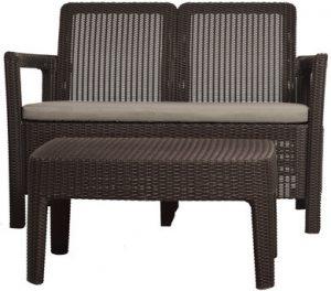 Набор уличной мебели (скамья,стол) Tarifa SOFA+TABLE, коричневый