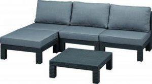 Набор мебели угловой(диван+столик) Nevada Set grey, графит