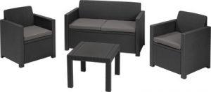 Набор уличной мебели (скамья двухместная,два кресла, столик )  ALABAMA SETgrap+cus cool grey 004 std