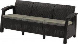 Скамья трехместная CORFU II MAX LOVE SEAT -GRP426-STD графит