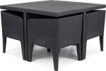 Набор мебели Columbia  dining set 5, графит