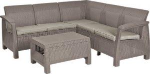 Набор мебели (скамья угловая, столик) CORFU II relax set CAPCNO-STD капучино