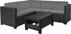 Набор уличной мебели Provence Set (диван угловой + столик), графит