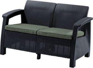 Скамья двухместная CORFU II  LOVE SEAT -GRP426-STD