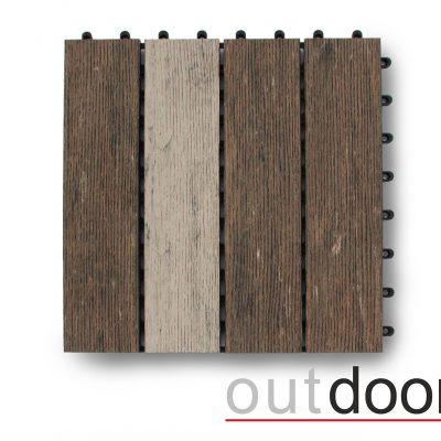 Садовый паркет ДПК Outdoor MULTIBROWN коричневый